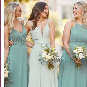 NWT Sorella Vita Bridesmaid Sage Dress 9306
